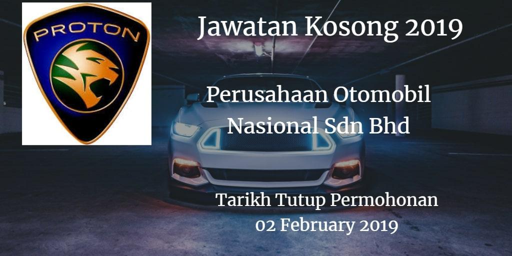 Jawatan Kosong PROTON 02 February 2019
