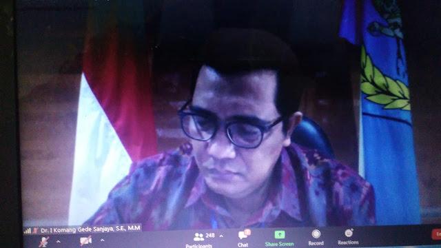 Wabup Dr. Sanjaya Jadi Narasumber Webinar di Untab