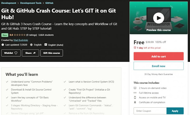 [100% Off] Git & GitHub Crash Course: Let's GIT it on Git Hub!| Worth 39,99$
