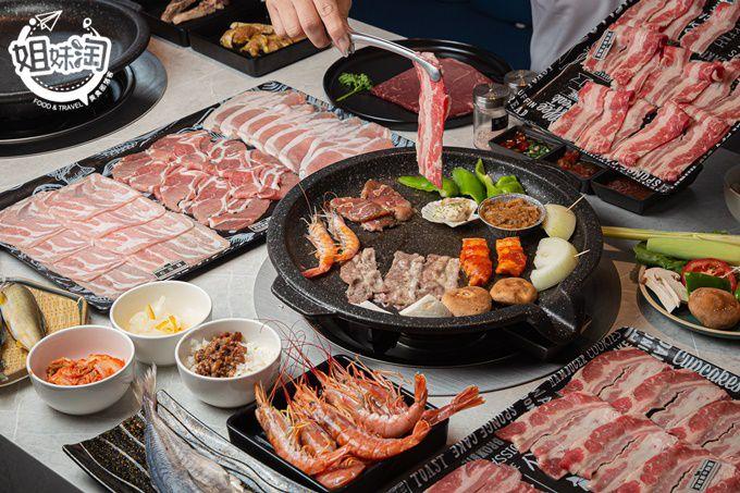 新開幕超時尚的燒肉吃到飽餐廳,6款異國醬汁環遊世界,比臉還大的和牛排,日本S2生食級干貝呷免驚!-八八口頂級燒肉餐廳Barbacoa