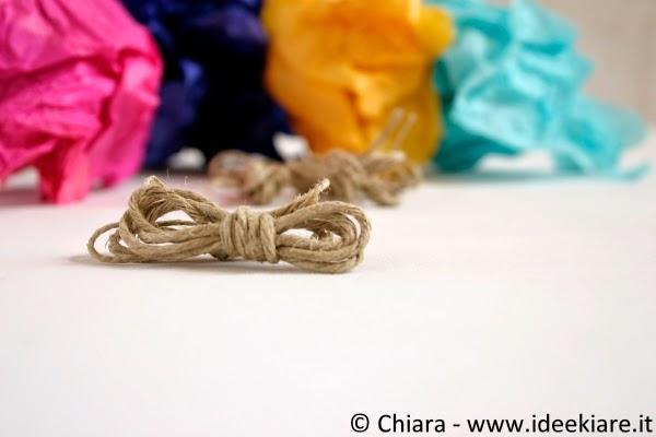 Tingere la stoffa con la carta velina