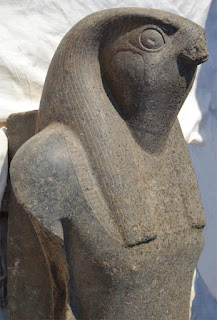 Horus statue at the Funerary Temple of king Amenhotep III
