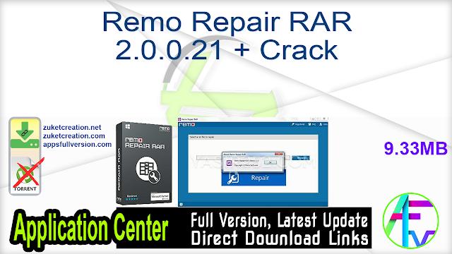 Remo Repair RAR 2.0.0.21 + Crack