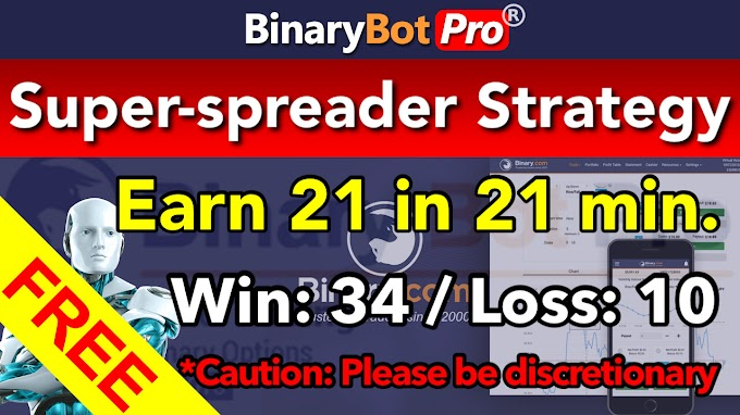 Super-spreader Strategy | Binary Bot | Free Download