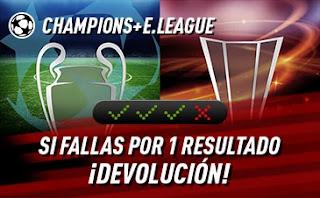 sportium promo Champions Europa League 6-8 abril 2021