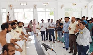 श्री मोहनखेड़ा तीर्थ में नागदा श्रीसंघ ने चातुर्मास की विनंती की