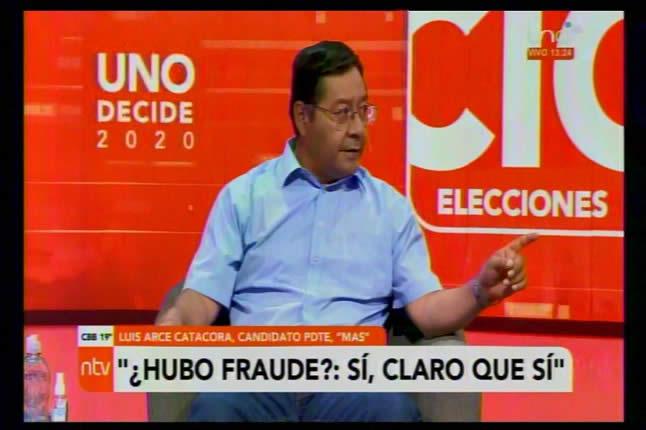 Luis Arce acepta que hubo FRAUDE;  cree que si gana él será quien gobierne el país y no Evo