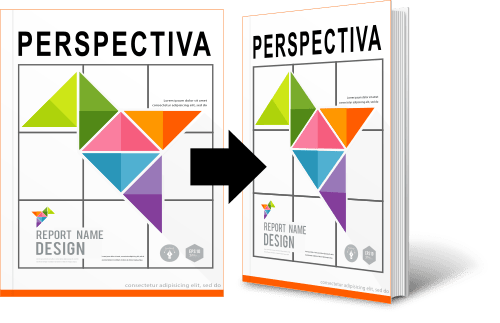 Aplicando perspectiva para que se adapte a una plantilla de libro o manual