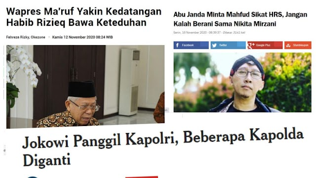 Presiden Ambil Alih Tugas Menkopolhukam, Pak Mahfud Dan Wapres Bela Rizieq, Ambyar