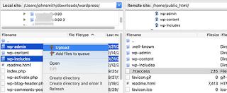 Upload file WordPress baru