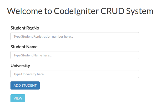 CRUD Application with CodeIgniter and Bootstrap - Part 1