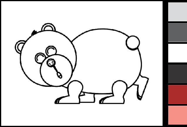 Gambar Mewarnai Hewan Beruang : Download