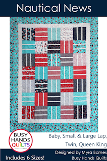 Nautical News Quilt Pattern by Myra Barnes of Busy Hands Quilts