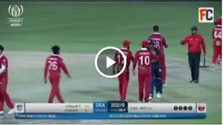Oman vs USA 42nd Match ICC CWCL2 2021 Highlights