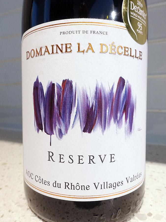 Domaine La Décelle Réserve Valréas 2017 (90 pts)