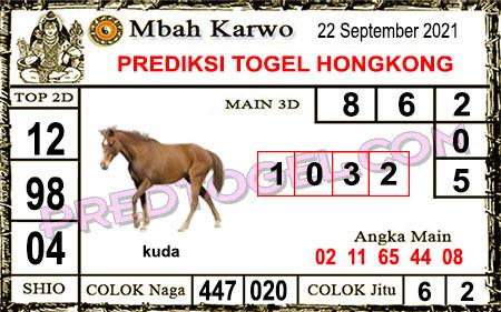 Prediksi Mbah Karwo Hk Rabu 22 September 2021