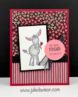 Sale-a-Bration Favorites: 3 Darling Donkey Cards + Flower & Field Designer Paper ~ www.juliedavison.com #stampinup #saleabration