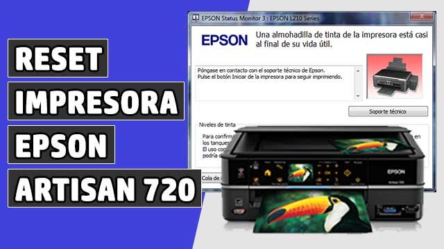reset Almohadillas impresora EPSON Artisan 720