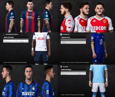 PES 2021 Faces & TattooPack 3 by SR