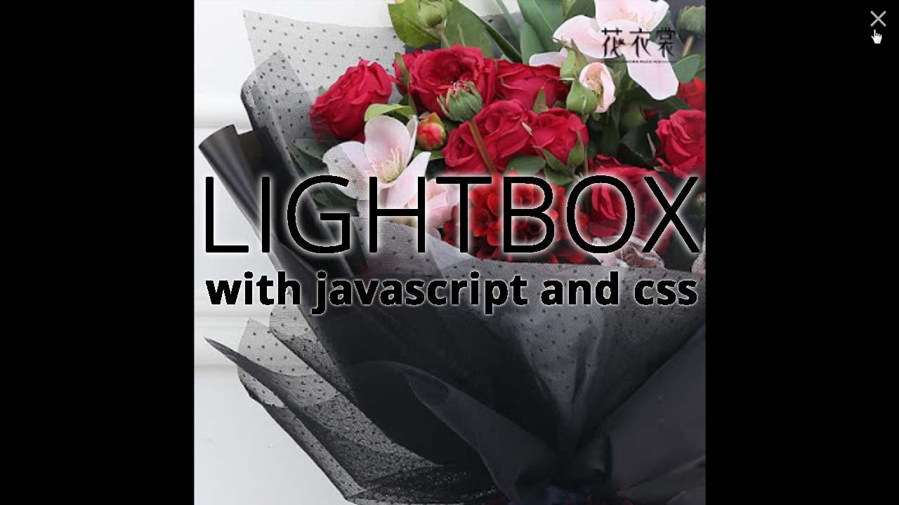Image Lightbox Dengan CSS dan Javascript