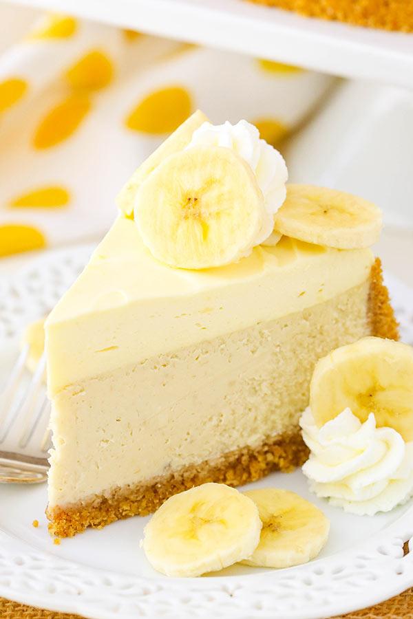 Banana Cream Cheesecake with Bavarian Cream!