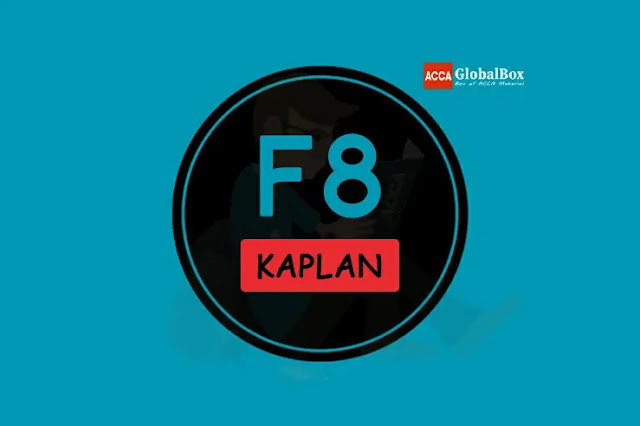 F8 - KAPLAN Study Texts, Accaglobalbox, acca globalbox, acca global box, accajukebox, acca jukebox, acca juke box,