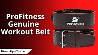 ProFitness Genuine Leather belt