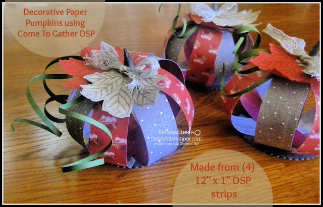 Trio of Paper Pumpkins by Nicole Steele The Joyful Stamper