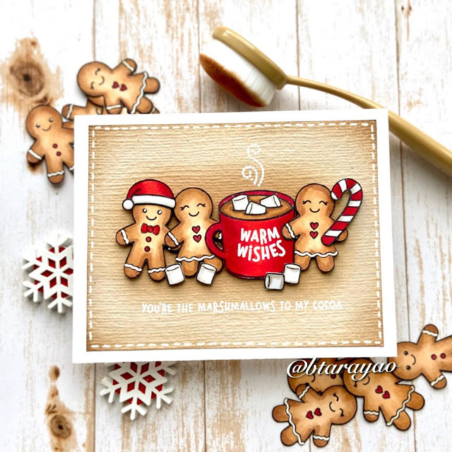 Sunny Studio Stamps: Jolly Gingerbread Customer Card by Barbara Tarayao