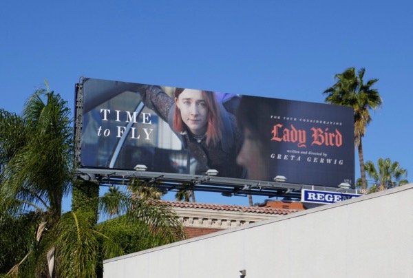 Lady Bird movie billboard
