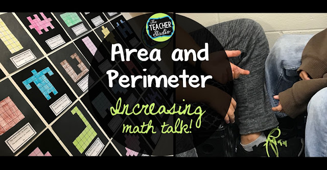 area and perimeter, area, perimeter, problem solving, hands on learning, math discourse, fourth grade, third grade, 4th grade, 3rd grade, geometry, measurement, cooperative learning, constructivist learning, assessment, task cards