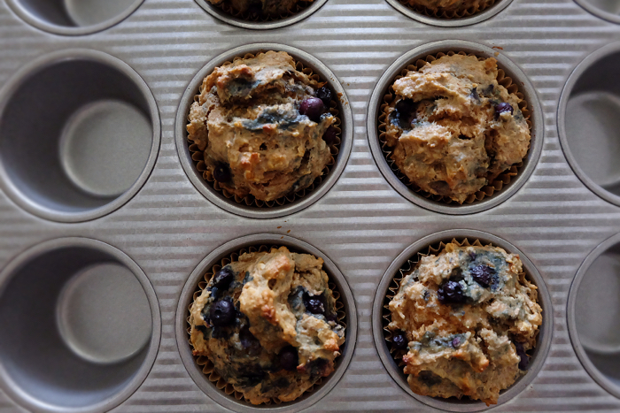 baked pupcakes in muffin tin