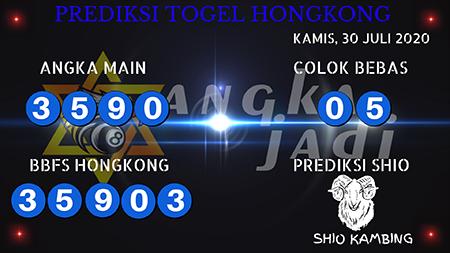Prediksi Angka Jitu Togel Hongkong HK Kamis 30 Juli 2020