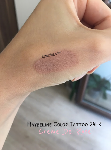 maybelline color tattoo 24hr creme de rose swatch