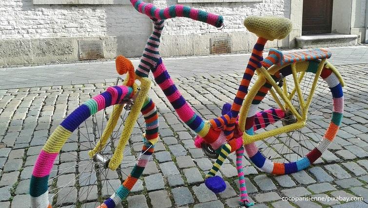 Häkelen Stricken - Fahrrad verschönern