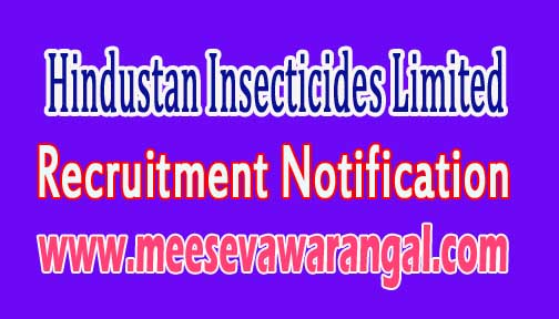 HIL (Hindustan Insecticides Limited) Recruitment Notification 2016