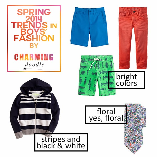 d6559d4f16 For boys, you'll also see high contrast stripes and bright (hello, neon)  pants and shorts. Floral prints are also making their way into boys'  fashion.