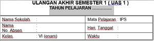 Soal UAS Semester 1 IPS Kelas 6 Dan Kunci Jawabaan Serta Kisi-Kisi Soal
