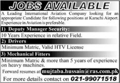 JOBS | A Leading International Aviation Company