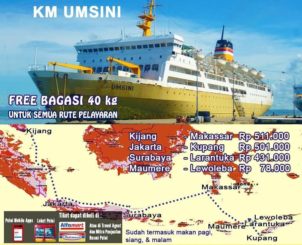 Jadwal Kapal Pelni Umsini Desember 2020 Harga Tiket