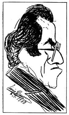 IN REVIEW: Gustav Mahler - DAS LIED VON DER ERDE (Opera Roanoke, 13 December 2020; caricature of the composer by Enrico Caruso for THE MUSICAL COURIER, 1908)