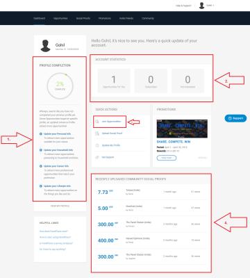 Survey Website - Dashboard