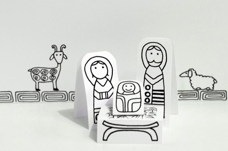 6 Belenes imprimibles fáciles para hacer en familia