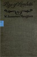 Liza of Lambeth, Doran 1921 - W. Somerset Maugham