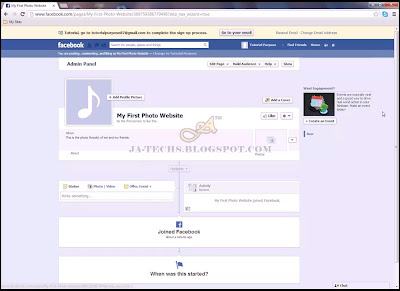 Creating Facebook Fan Page - Step 5