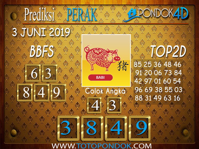 Prediksi Togel PERAK PONDOK4D 03 JUNI 2019