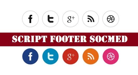 Cara Membuat Widget Social Media Share di Footer Blog