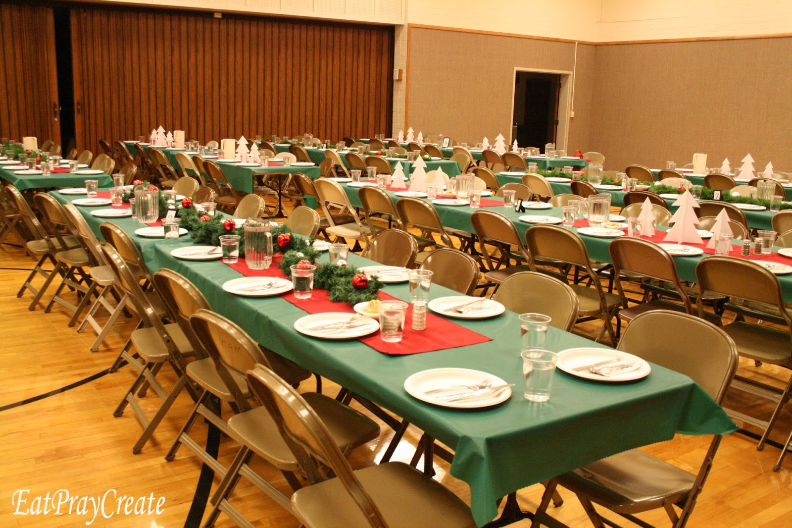 Christmas Decorations For Church Dinner
