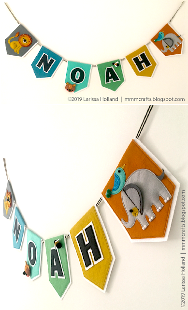 baby name banner for wee Noah