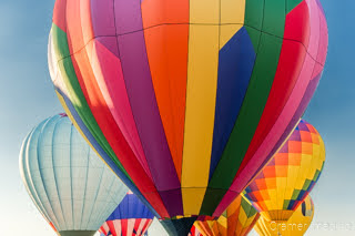 Cramer Imaging's fine art photograph of a colorful hot air balloon cluster in Panguitch Utah